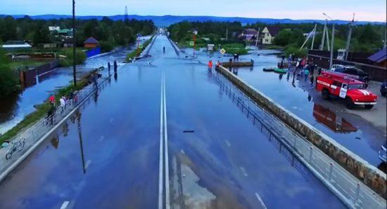 В Забайкальском крае развели мосты