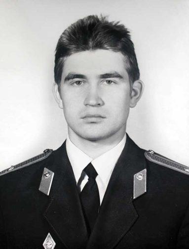 Владимир Астафьев во время учебы в высшей школе милиции