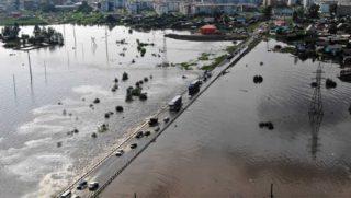 Последствия наводнения в городе Тулун Иркутской области