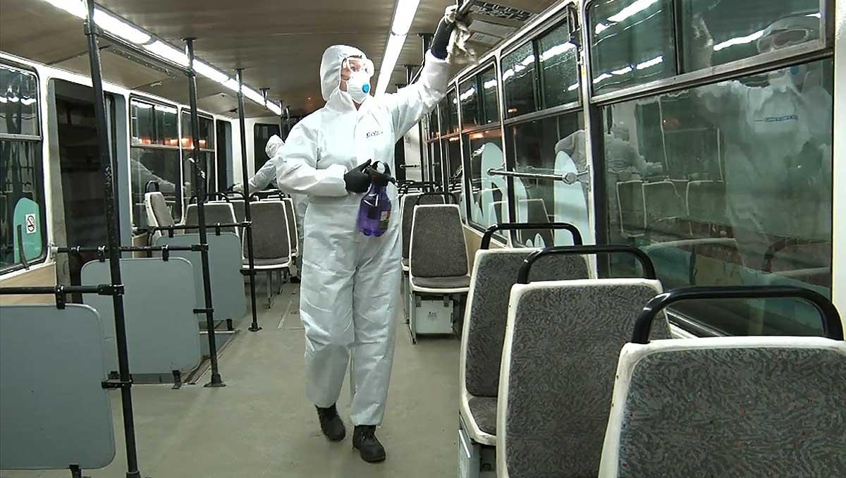 Дезинфекция муниципального общественного транспорта