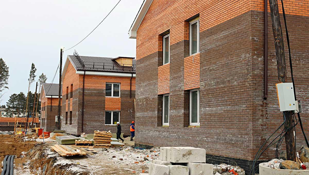 Строительство новых домов в Тулуне